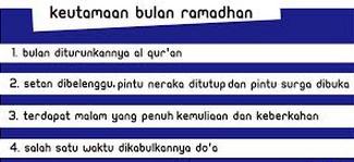 Keutamaan-Keutamaan Bulan Ramadhan