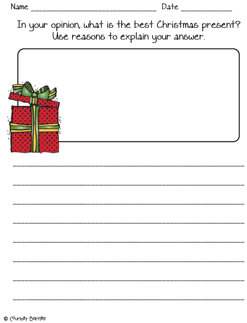 Printable Christmas Writing Worksheets