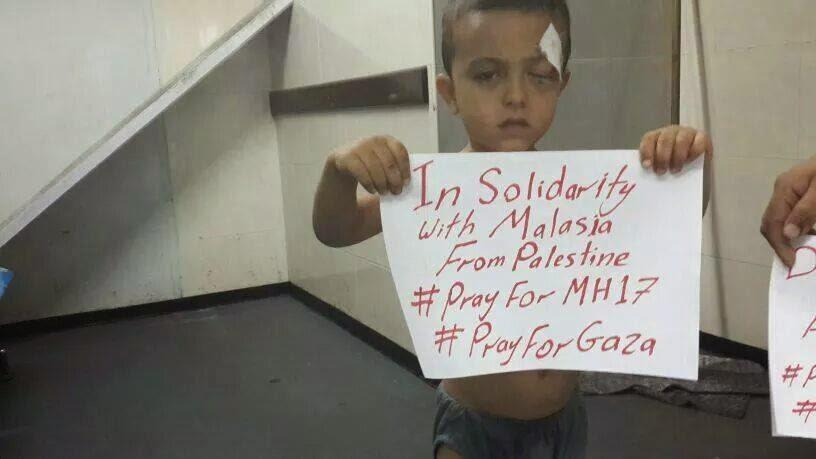 Anak Palestin Menunjukkan Solidariti terhadap Malaysia