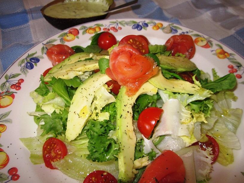 Bienmesabe ensalada de salm n y aguacate - Ensalada con salmon y aguacate ...