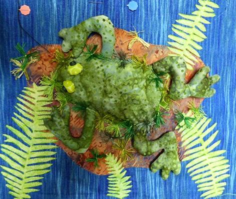 Artquilt med frø
