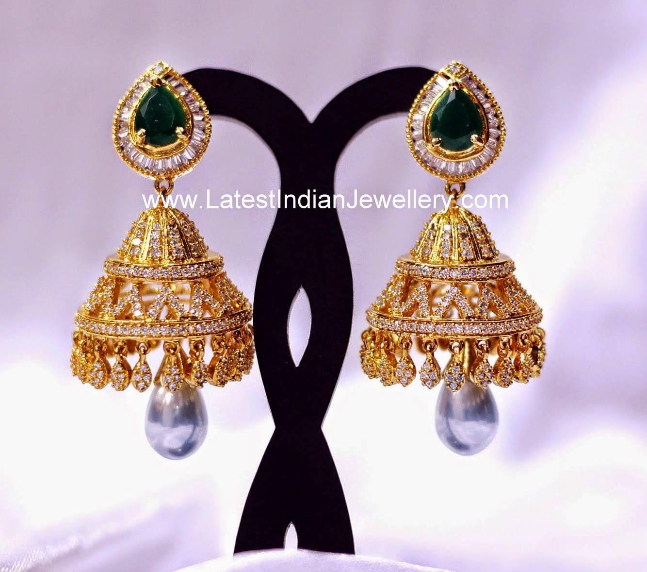 Latest designer Diamond Jhumka