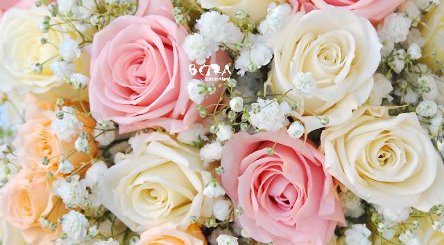 rosas pastel preservadas