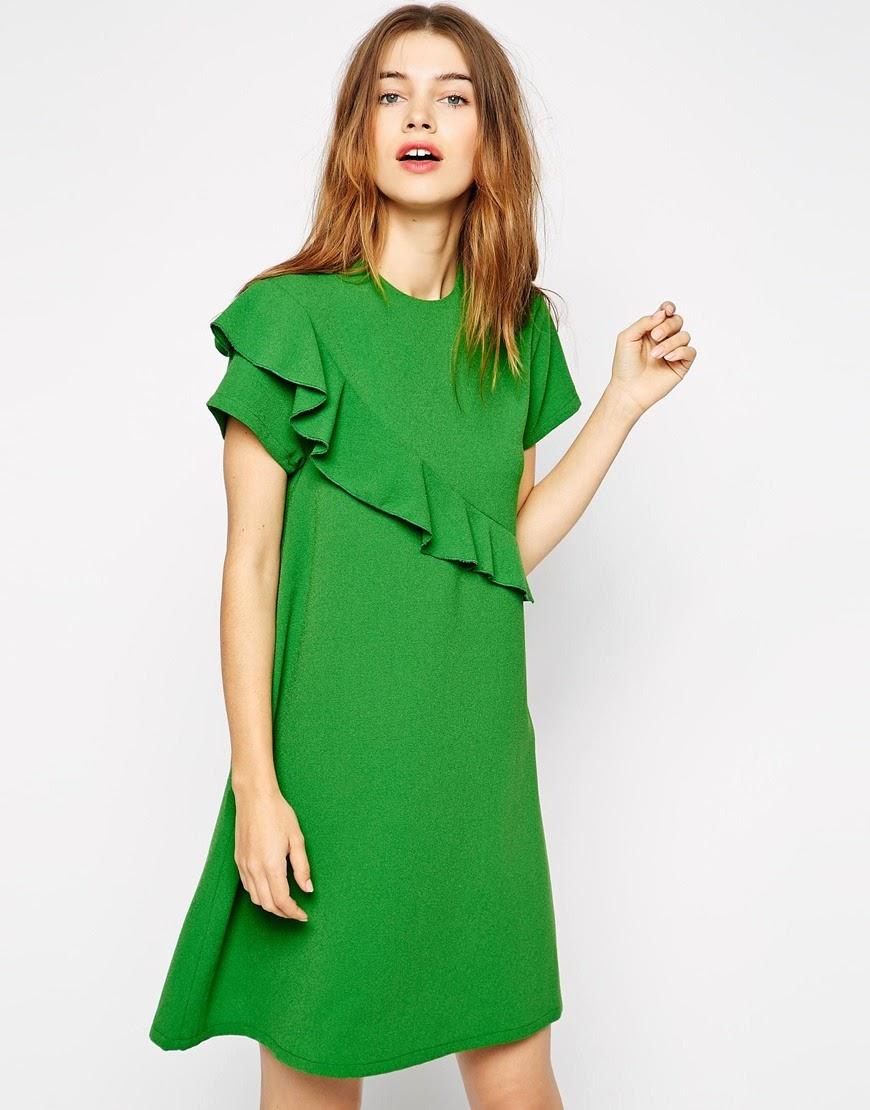 green ganni dress 2015