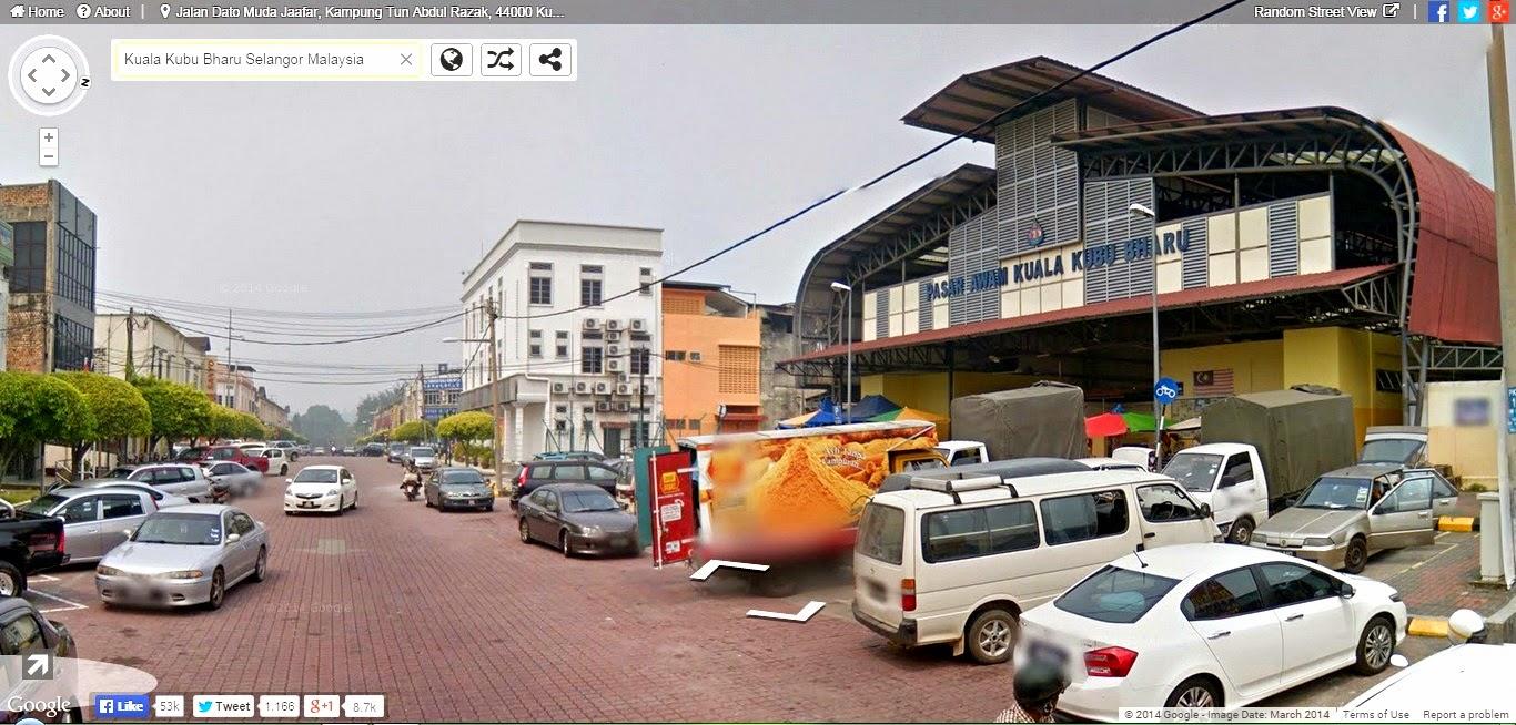 Menjejaki Pekan Kuala Kubu Bharu Melalui Instant Google Street View