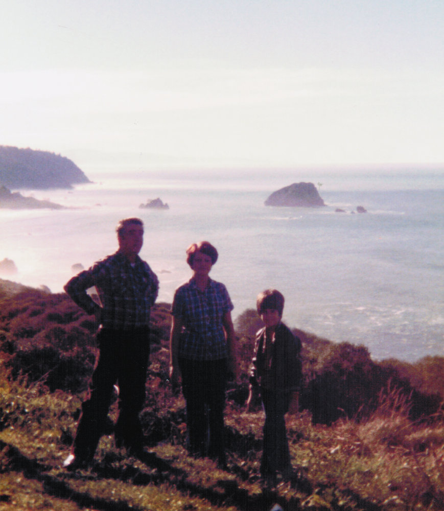 Maurice Jacqueline and Raymond Belair near Crescent City California 1980