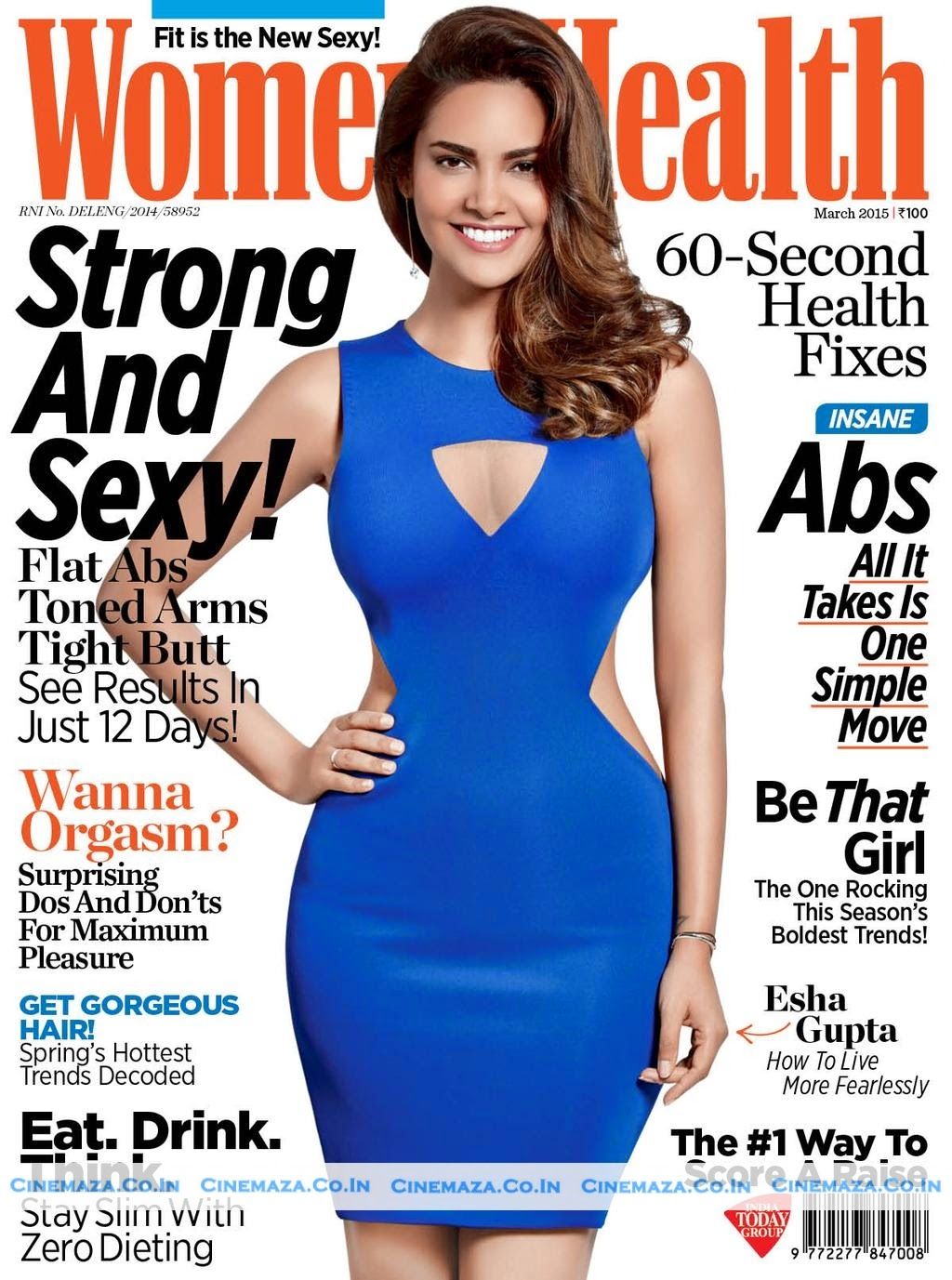Actress, Model @ Esha Gupta - Women's Health India March 2015