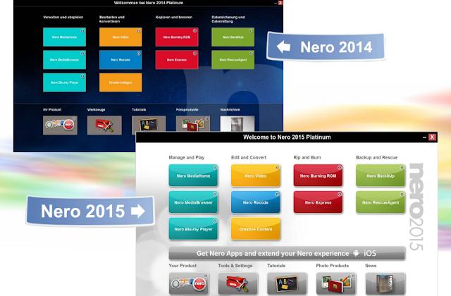 Nero 2014 vs 2015