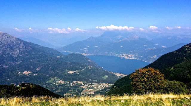 View above Lake Como near Pigra