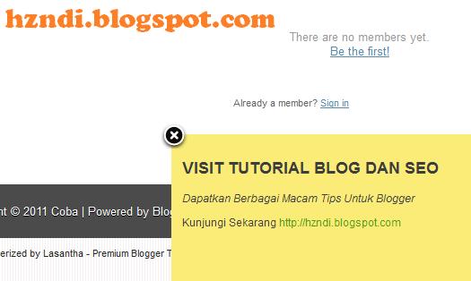 Cara Membuat Widget Slidenote / Pesan Notifikasi Untuk Blogger