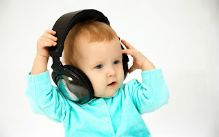 Cute Little Baby Boy With Headphone HD Wallpaper