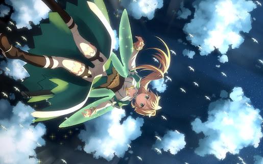 Leafa kirigaya suguha alfheim sword art online girls hd wallpaper