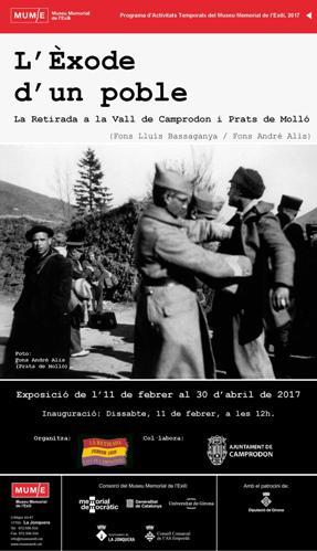 Exposició L'ÈXODE D'UN POBLE. LA RETIRADA A LA VALL DE CAMPRODON I PRATS DE MOLLÓ