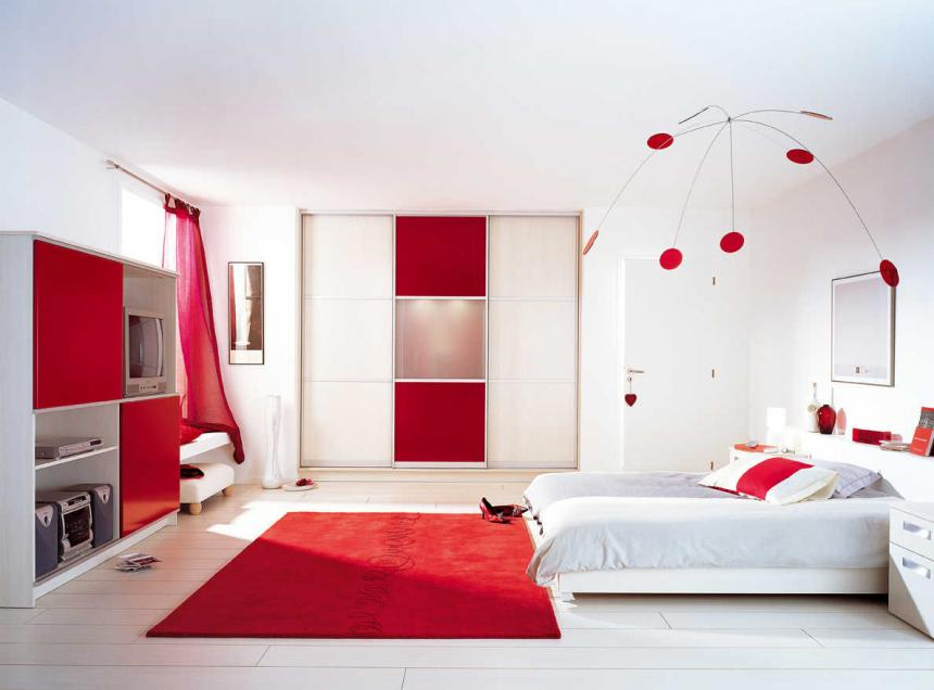 la couleur rouge dans la decoration d 39 int rieur home. Black Bedroom Furniture Sets. Home Design Ideas