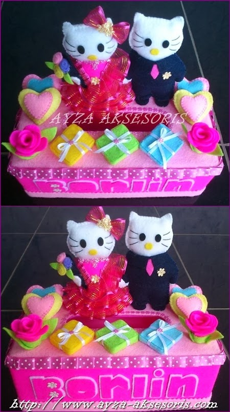 Kotak Tissue Hias - Tema Hello Kitty Wedding - Ayza Aksesoris