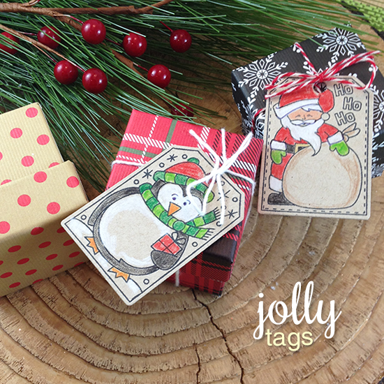 Tags by Jennifer Jackson |  Jolly Tags Stamp and Die Set by Newton's Nook Designs #newtonsnook
