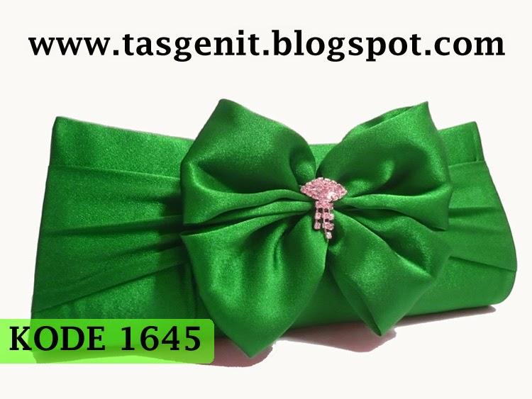 tas pesta cantik, clutch bag online, tas dompet kebaya hijau, pengrajin tas