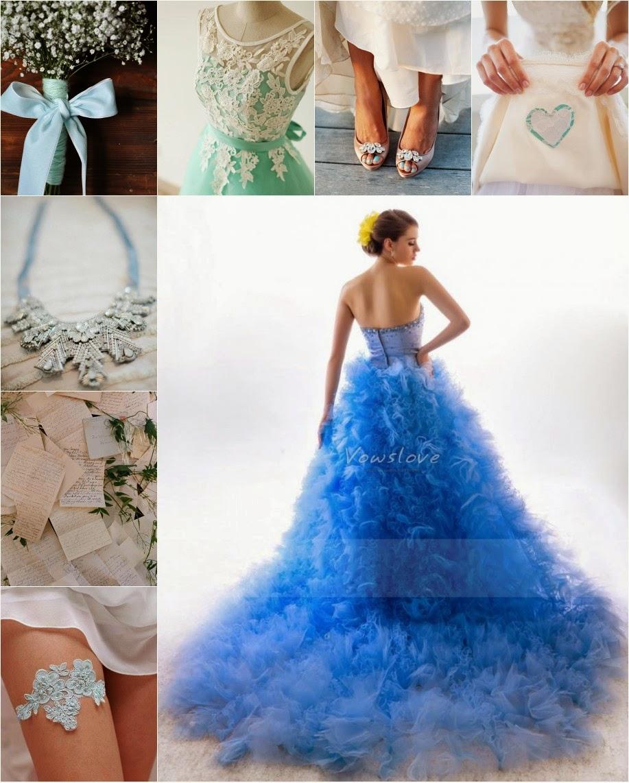Ways to Wear Something Blue on Wedding Day! | VowsLove Dress Blog