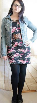 Floral Dress & Jeans Jacket