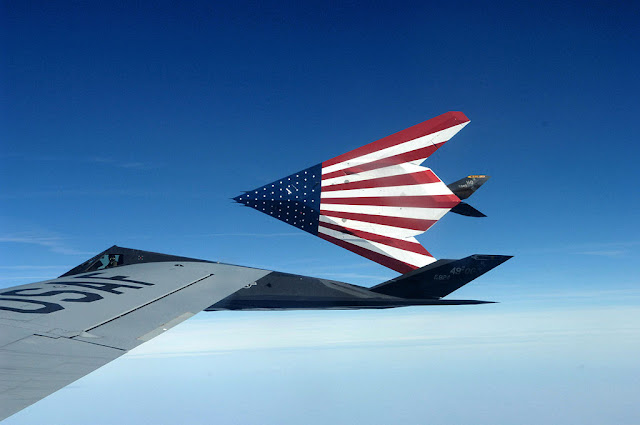 F-117 Nighthawk American flag