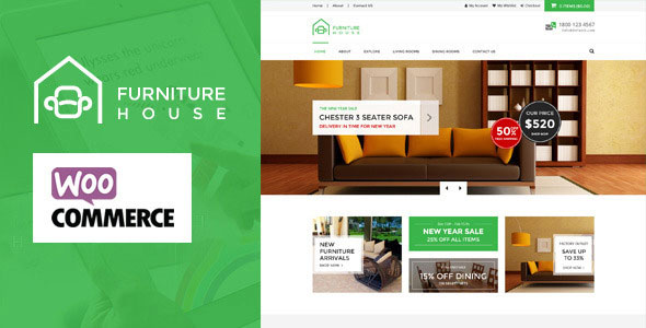 Free Download Furniture V1.3.1 WooCommerce WordPress Theme
