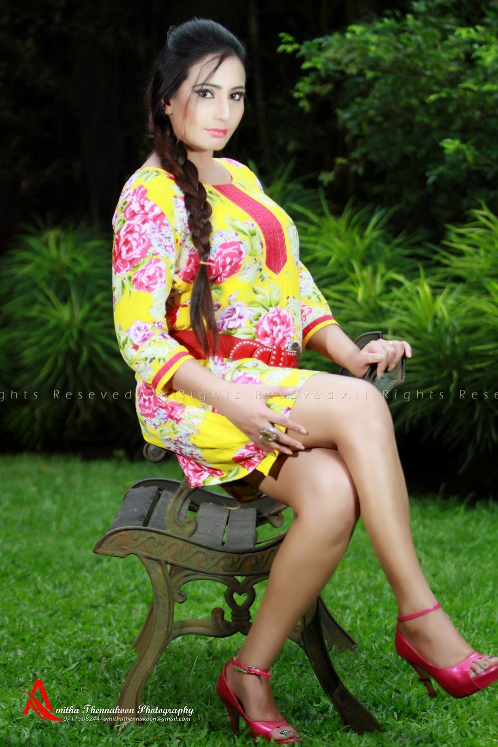 Isha Erandi crossed legs