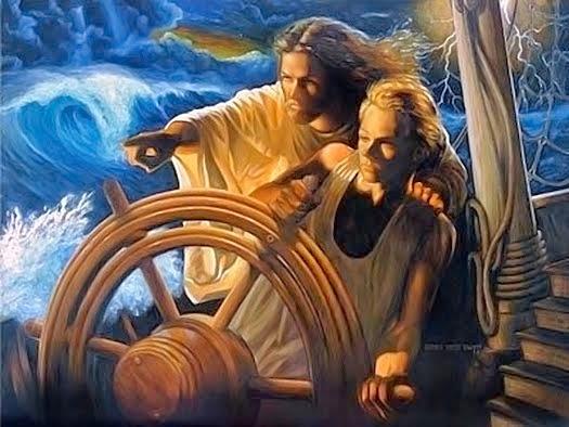 """""""Não temo mais o mar,  pois firme está minha fé."""