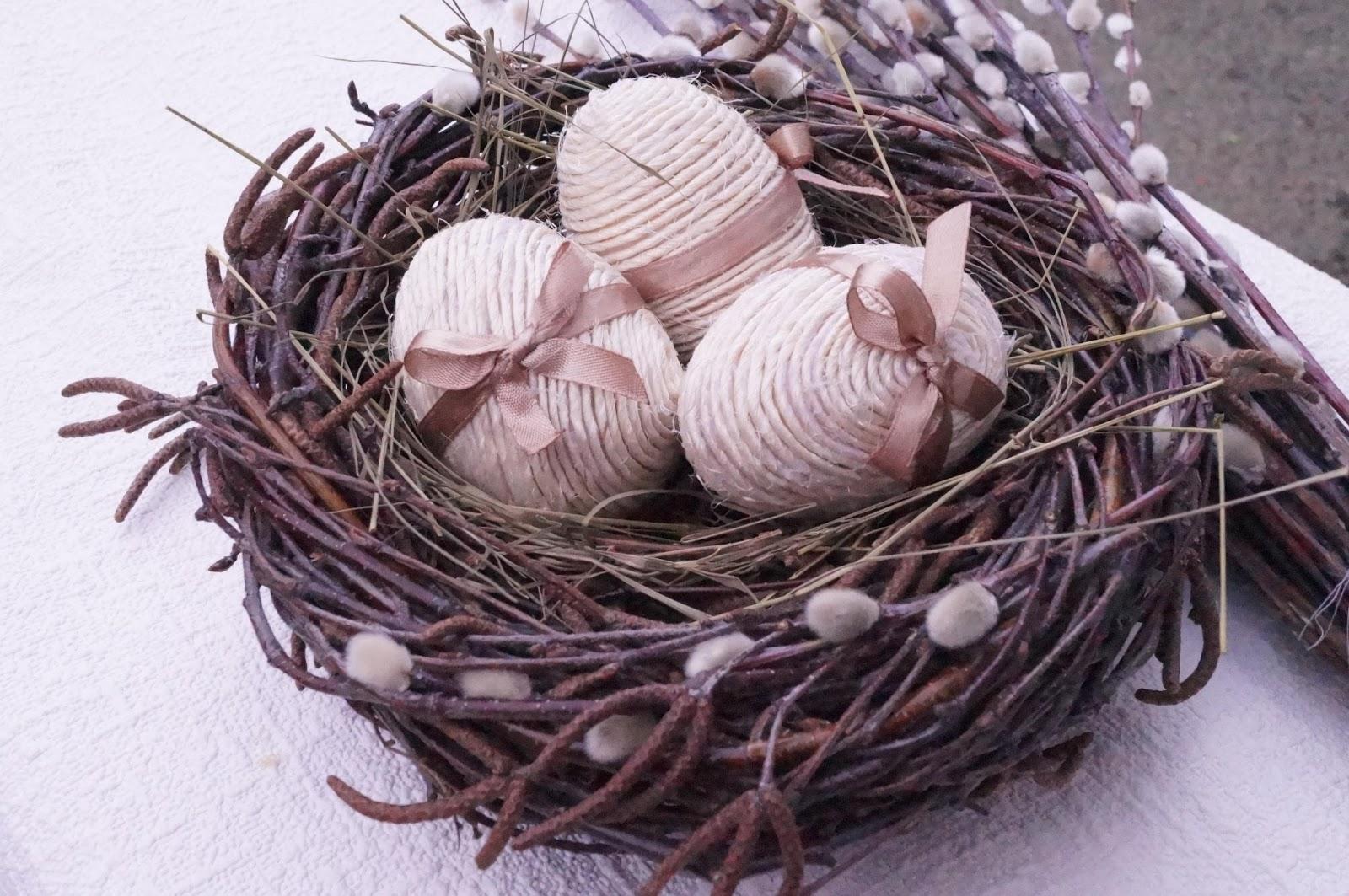 Гнездо из шпагата своими руками