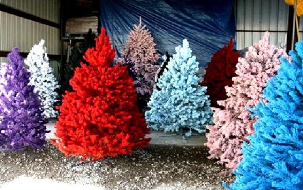 Decora y disena rboles de navidad artificiales en colores - Arboles artificiales ...