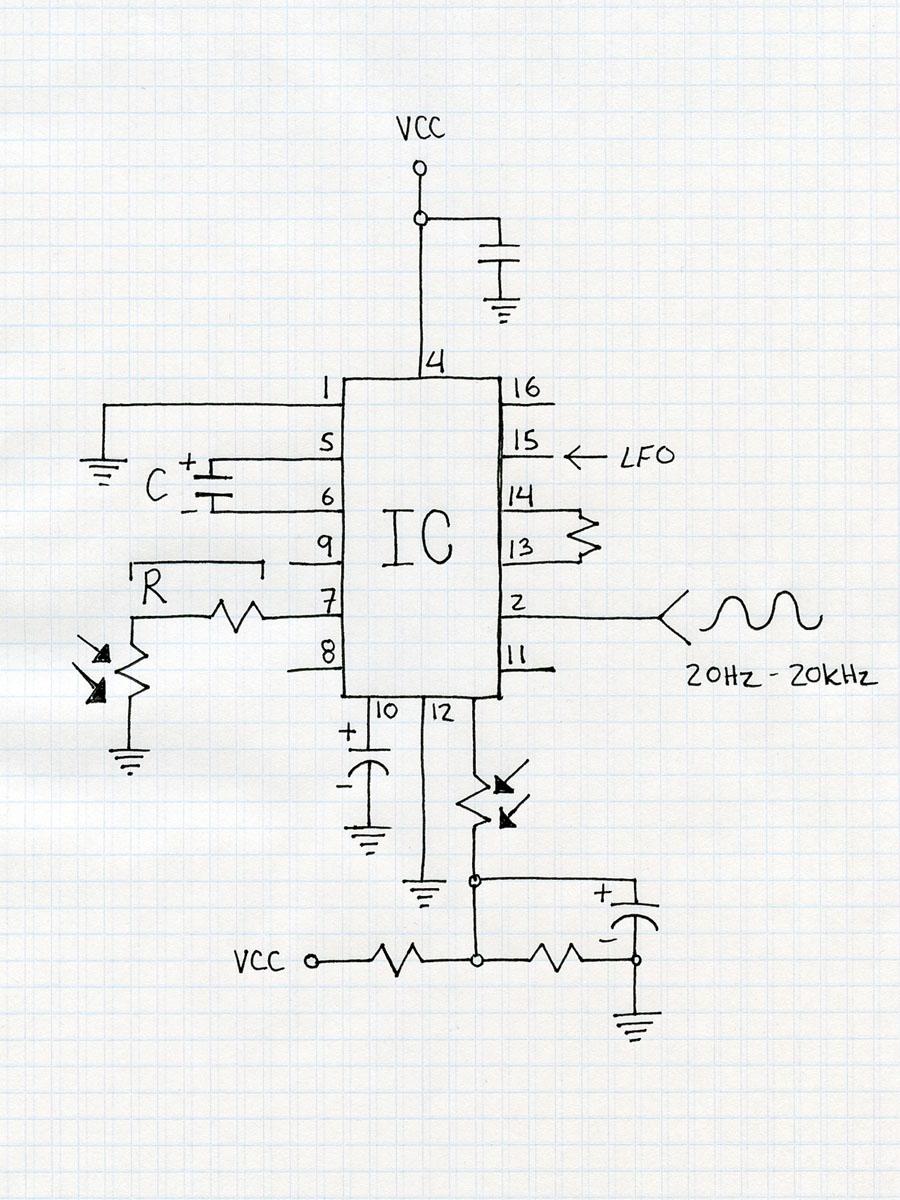 optical theremin circuit diagram