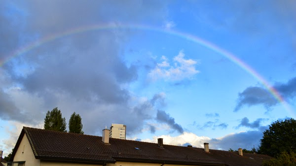 waking up with a rainbow