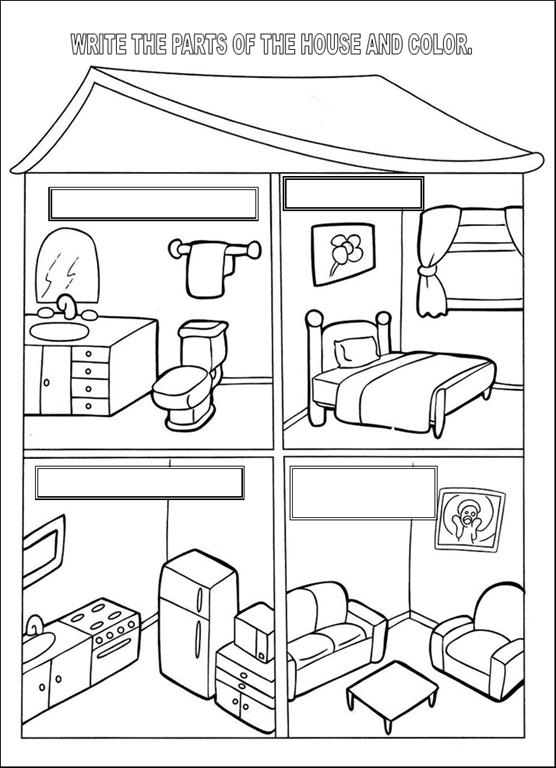 smile trocando ideias atividades ingl s sobre partes da casa. Black Bedroom Furniture Sets. Home Design Ideas