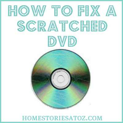 How to repair scratched dvd