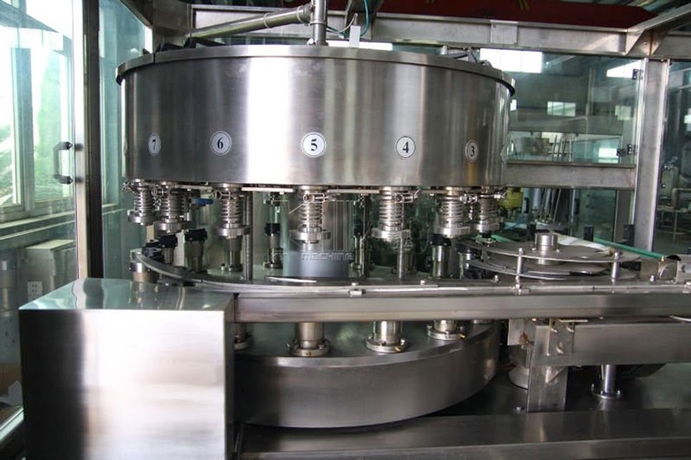 Aluminum Can Filling And Sealing Machine Two In One Rotary automatic cans filler&sealer equipment