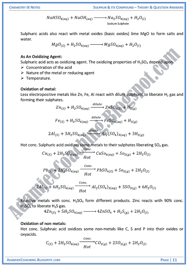sulphur-and-its-compound-theory-notes-and-question-answers-chemistry-ix