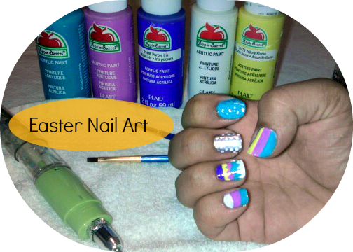 nail art, easter, egg, inspired, nail polish, acrylic paint, guest blogger, mani monday