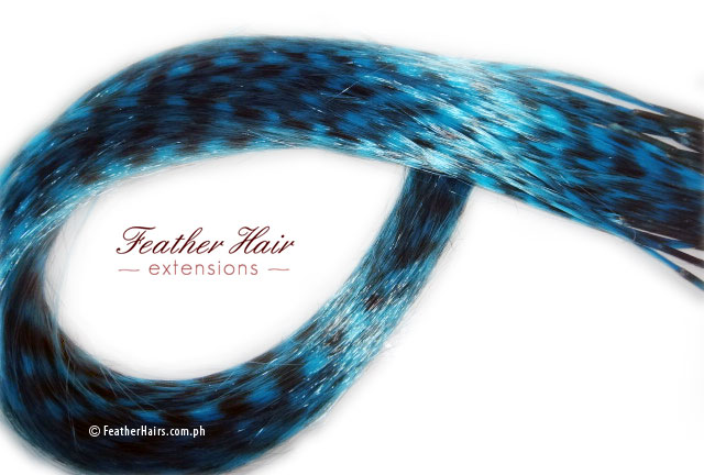 Blue Feather Hair Extension