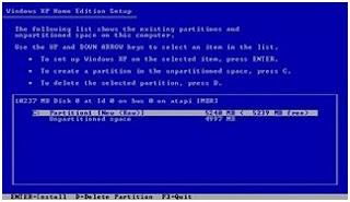 memilih NTFS