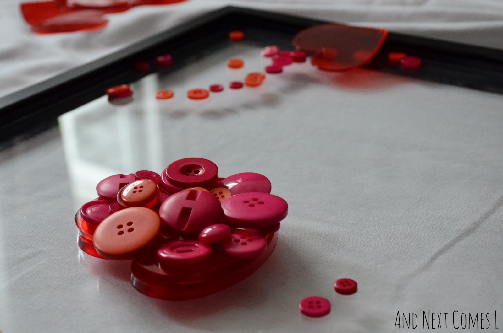 Close up of a Valentine's Day invitation to play from And Next Comes L