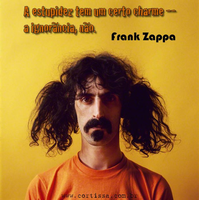 A estupidez tem um certo charme -- a ignorância, não. Frank Zappa