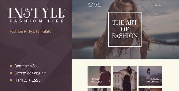 Best Fashion & Elegant HTML Template