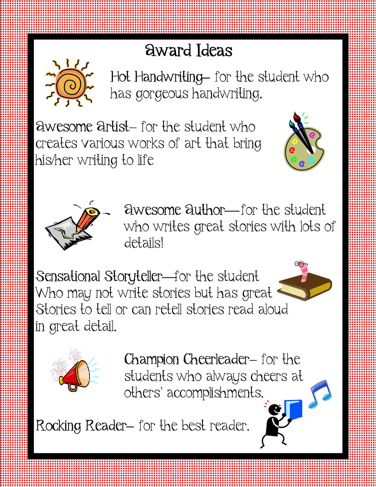 Classroom Ideas Awards : Kindergarten squared awards ideas for your kiddos