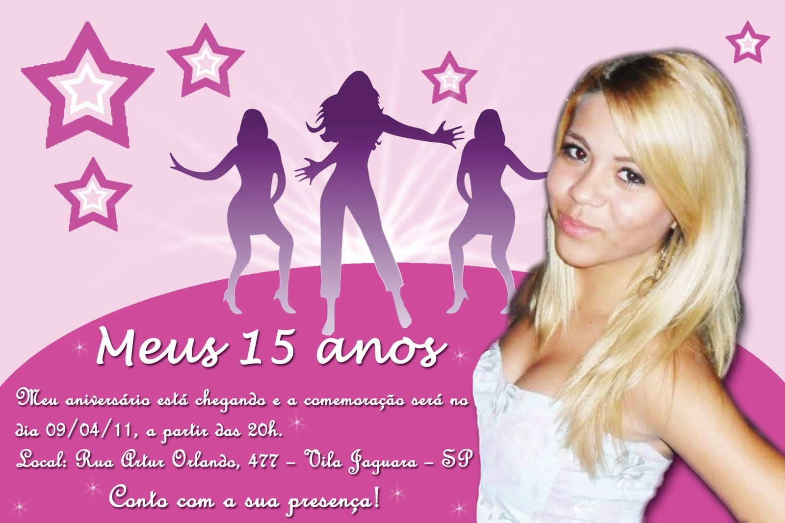 Convite De 15 Anos  Larissa Camilo