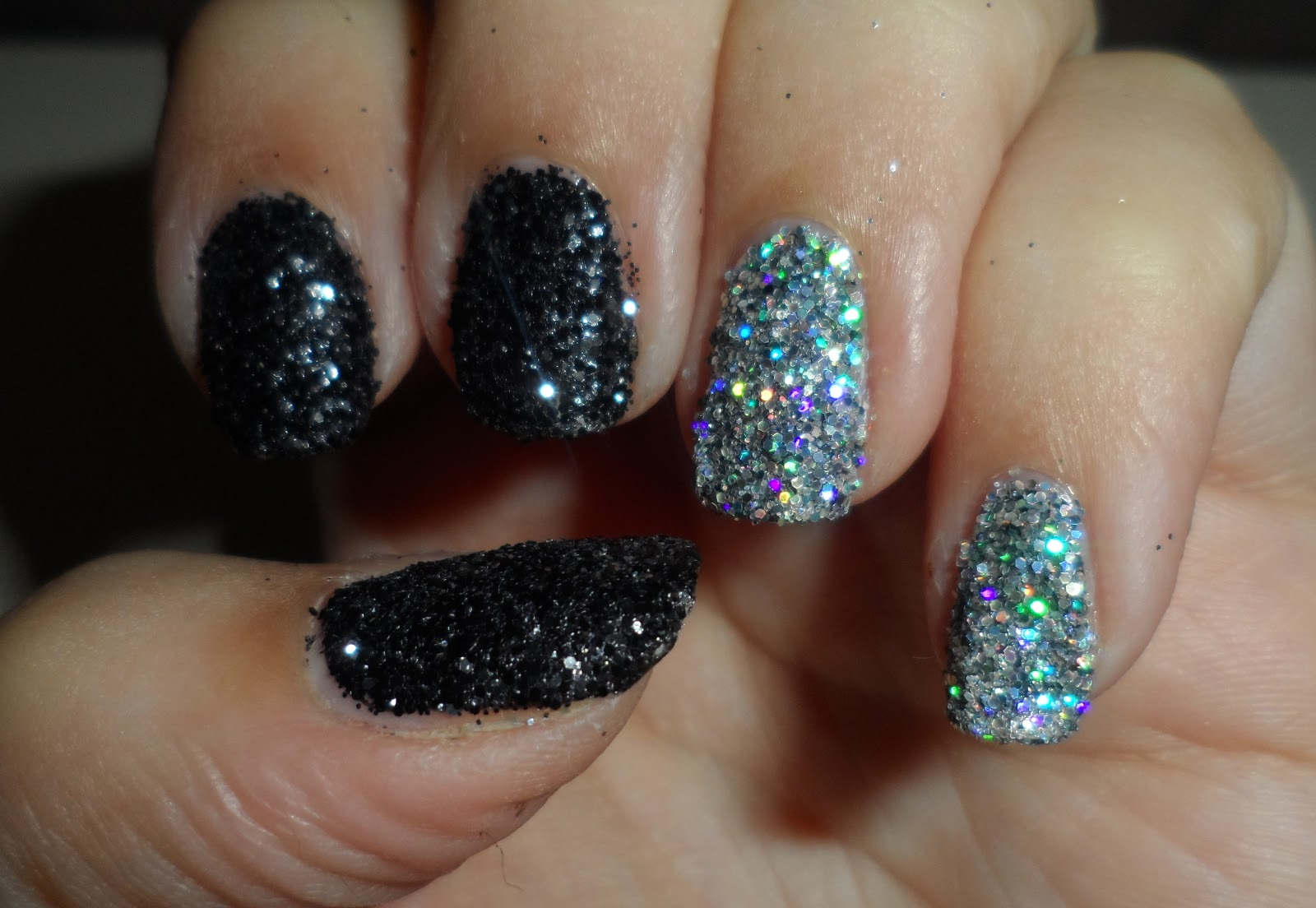notd: nails inc bling it on rocks extreme sparkly glitters