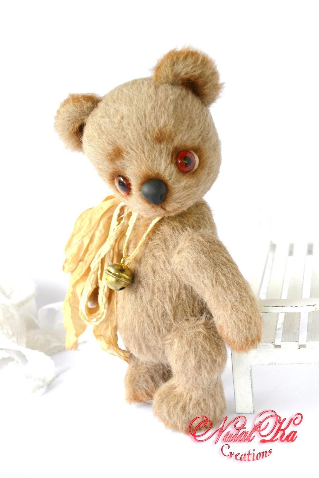 Künstler Teddybär handgemacht von Natalka Creations. Авторский медведь тедди от NatalKa Creations