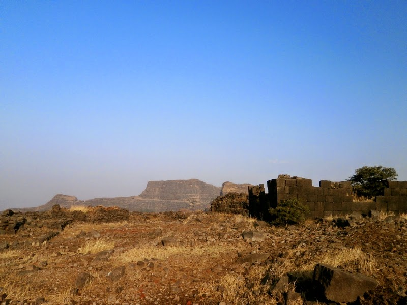 Ruins of old houses on top of Alang
