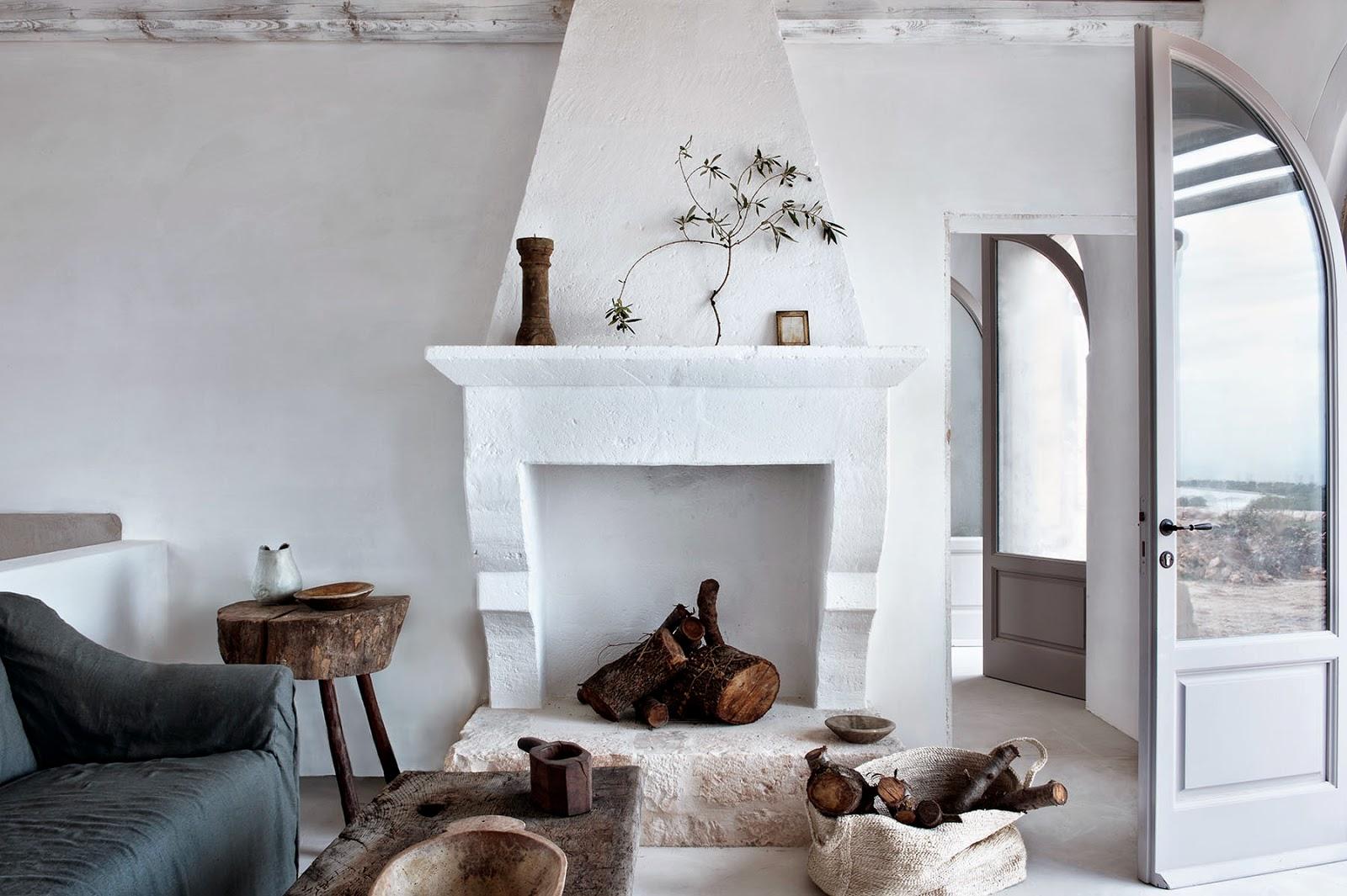 rustic details in living room