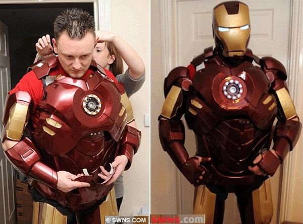 Trás la recepción de interminables solicitudes, Sunley ha transformado su hobby en un negocio, Ha comenzado a vender cascos de Iron Man hechos en fibra de