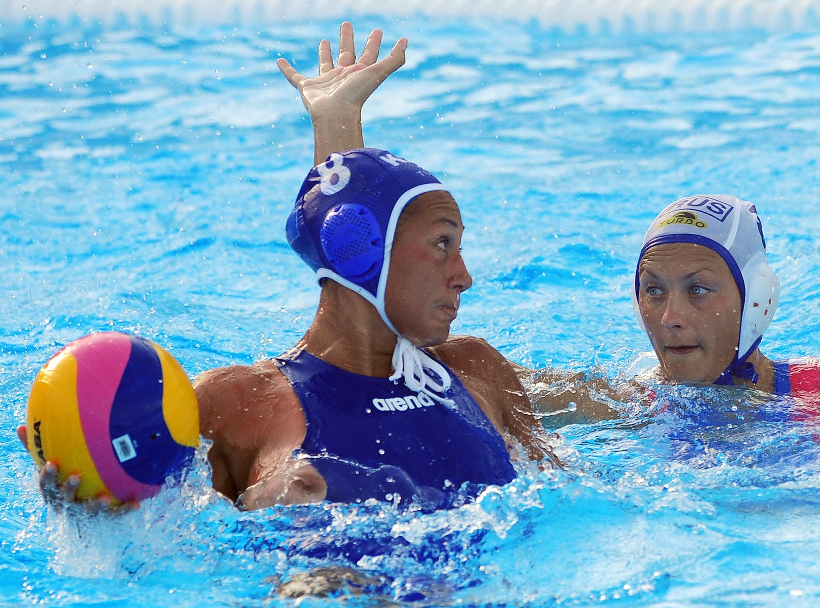 Womens water polo suit malfunction