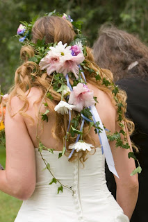 Floral hair piece for a country wedding